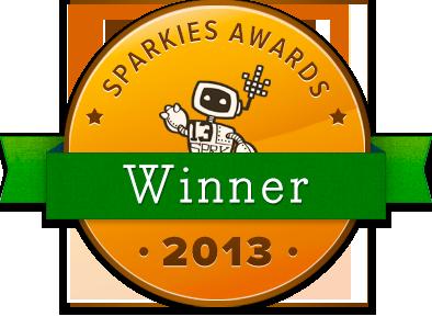2013 Sparkie Awards Winner